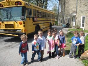 Practice school bus ride
