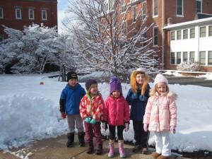 Winter Wonderland on campus